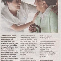 18th May 2011: Be Independent Home Care feature in The Northside People